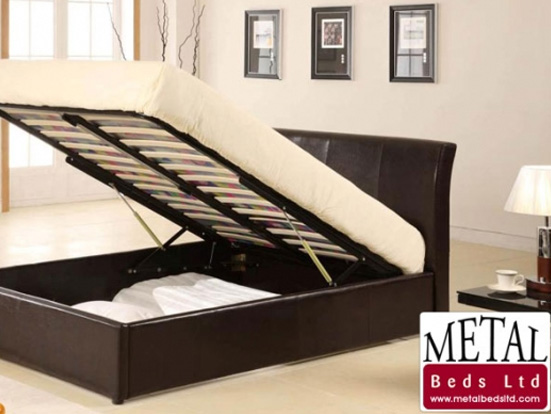 METALBEDS TEXAS OTTOMAN - Available in Black or Brown Leather (3ft, 4ft6 & 5ft)... PLEASE CALL US NOW FOR DETAILS & PRICES